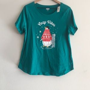 NWT Old Navy Jolly Vibes Christmas Tee Size L